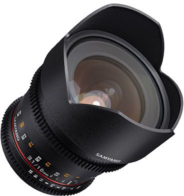 Samyang 10 mm T 3.1 VDSLR ED AS NCS mit Sony E-Mount