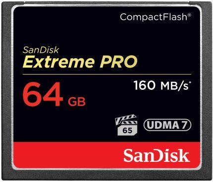 SanDisk Extreme PRO CompactFlash Speicherkarte 64GB
