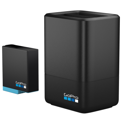 GoPro Dual Battery Charger + Battery (HERO8 Black/HERO7 Black/HERO6 Black)