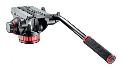 Manfrotto Pro Video Fluid Neiger mit flacher Basis & 504PL (MVH502AH)